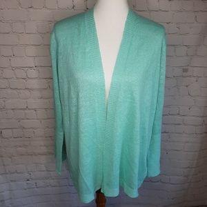 Eileen Fisher Organic straight cardigan size LP